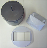 plastic sanitary bins with lids