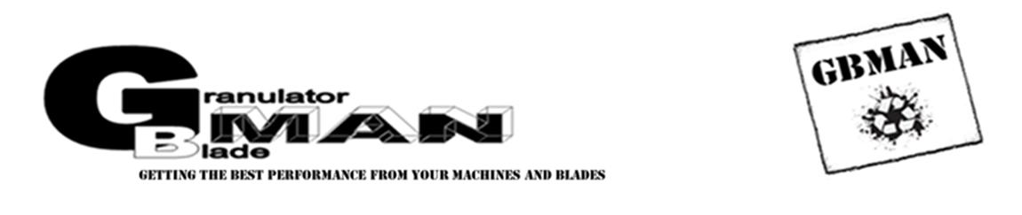 Granulator Blade Man