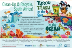 Clean up and recycle SA week, September 14 - 19