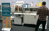 BOY 35 E Injection Moulding Machine displayed at Swiss plastics