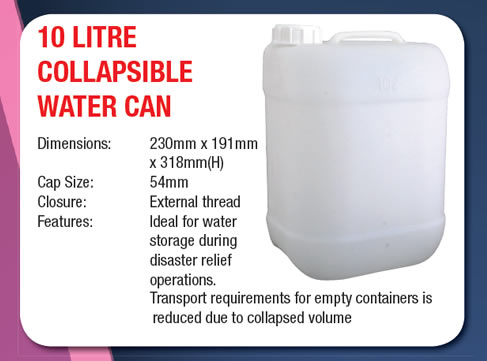 10 Litre Collapsible Water Can