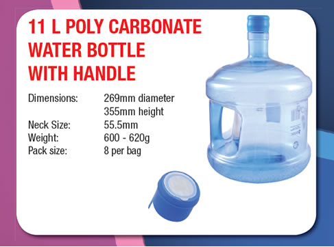 11 Litre Poly Carbonate Water Bottle with Handle
