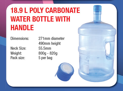 18.9 Litre Poly Carbonate Water Bottle with Handle