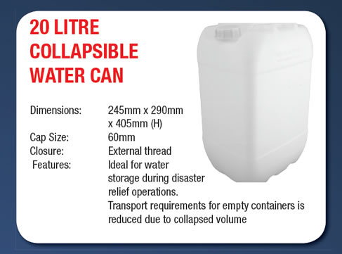 20 Litre Collapsible Water Can