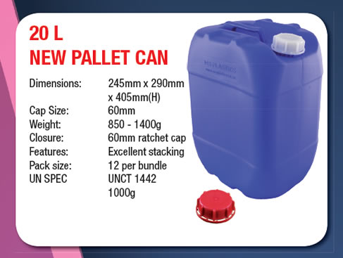 20 Litre Stackable Pallet Can