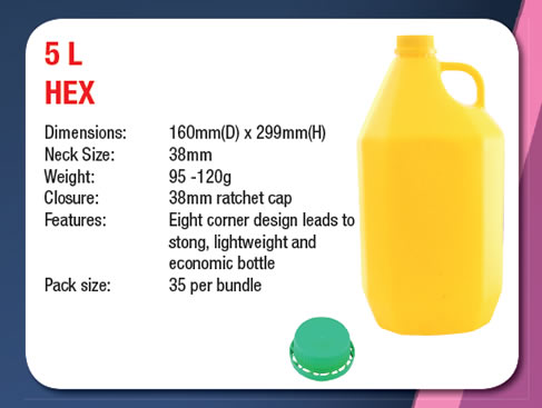 5 Litre Hex Can