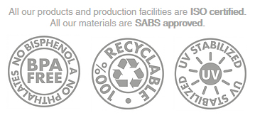 SABS approved products and BPA free products