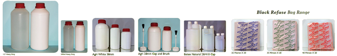 Agri Bottles - Bettex Bottles and Plastic Refuse bags