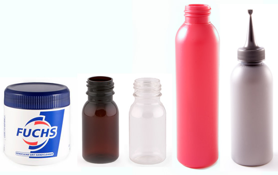 Pharmaceutical and cosmetic plastic container packaging