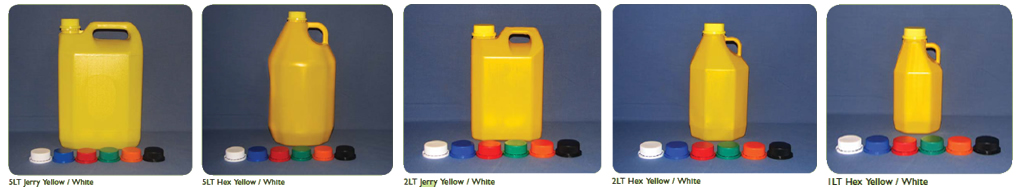 Yellow Plastic Bottles for Chemical Packaging