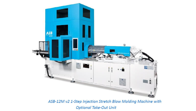 ASB-12M v2 1 -Step Injection Stretch Blow Molding Machine with Optional Take-Out Unit