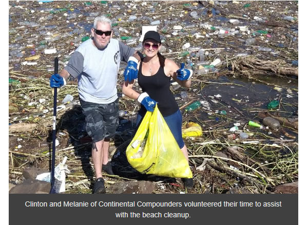 Continental Compounders taking part in Durban Cleanup