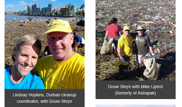 Douw Steyn and Lindsay Hopkins - Durban Cleanup