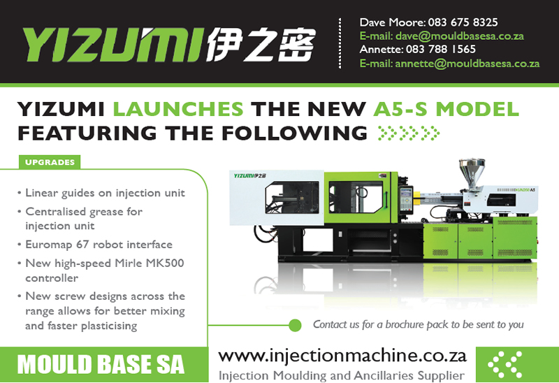 new 260-ton Yizumi injection moulding machine