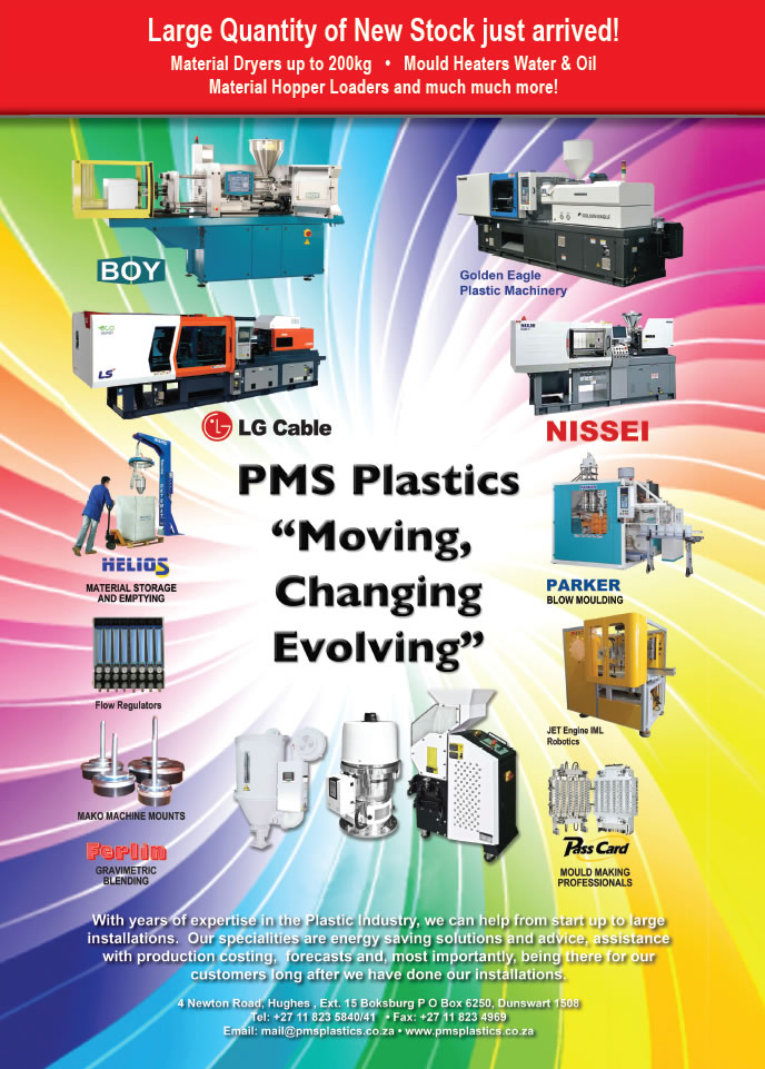 new stock of plastic machinery and equipment at PMS Plastics