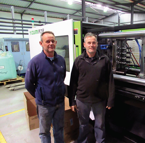 The Edwards brothers, Nick and Jonathan, of Concept Moulding with new Yizumi injection machine